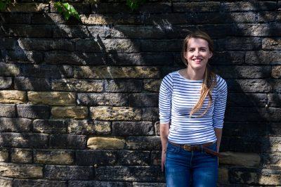 ITV gardener Katie Rushworth in her garden