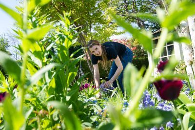 Katie Rushworth of ItVs Love Your Garden in her summer U.K. garden