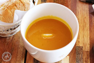 Recipe for warming pumpkin soup by Katie Rushworth