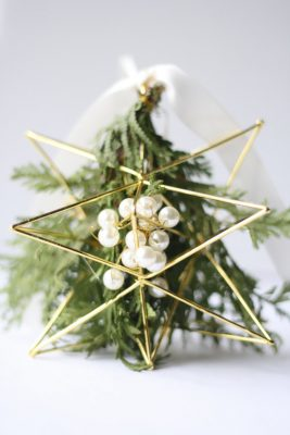 Mistletoe Christmas festive ornament DIY home project