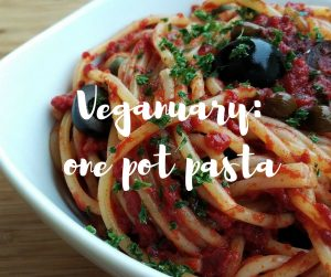 Veganuary one-pot pasta recipe. An easy vegan cookery recipe from Katie Rushworth