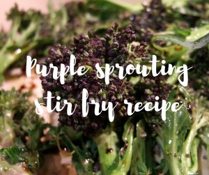 Purple sprouting broccoli stir fry recipe, a recipe from Katie Rushworth