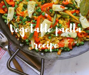 Vegetable paella recipe from Katie Rushworth