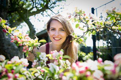 Katie Rushworth gardening