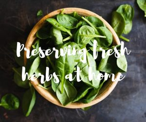 Preserving fresh herbs at home: an article from Katie Rushworth